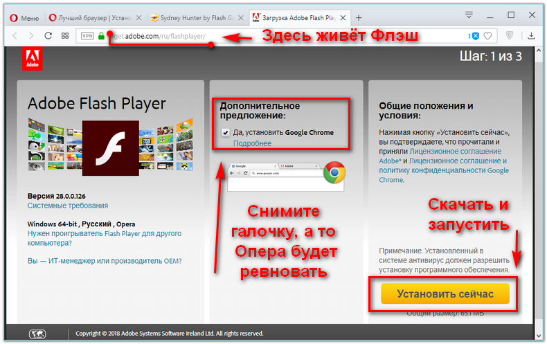 Скачать Adobe Flash Player
