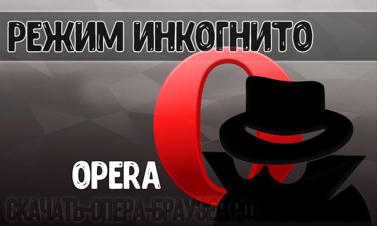 Режим инкогнито Opera